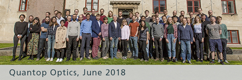 Group picture of the Quantum Optics members in 2018